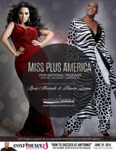 Official Flyer for the 2016 Miss Plus America Pageant
