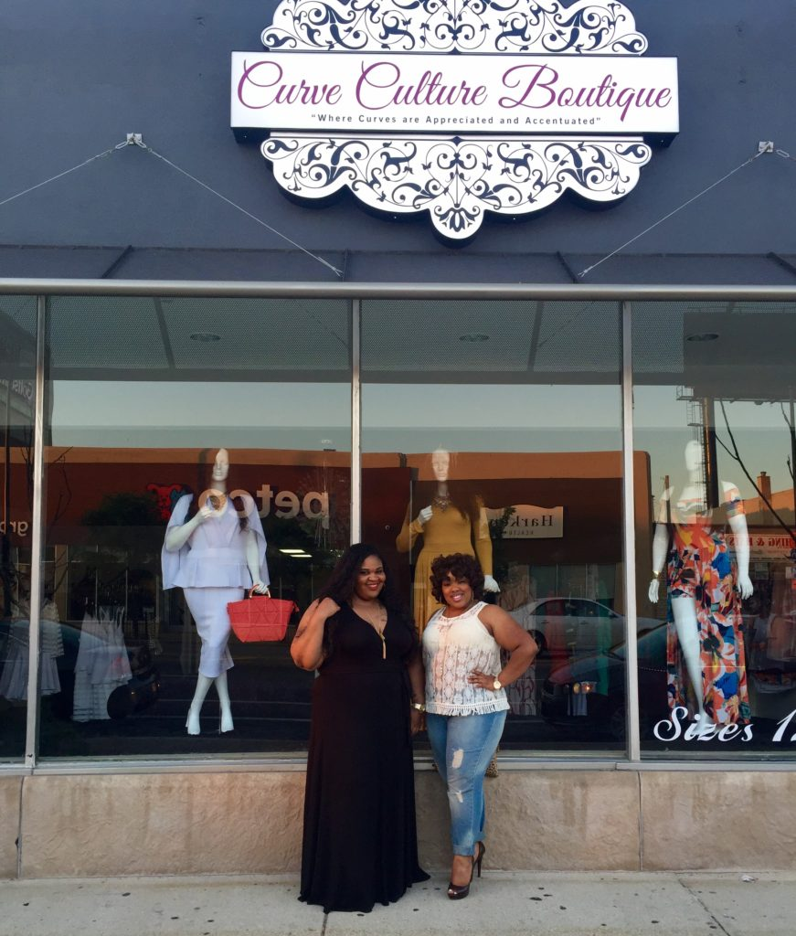 Qiana and I outside of Curve Culture's south loop location